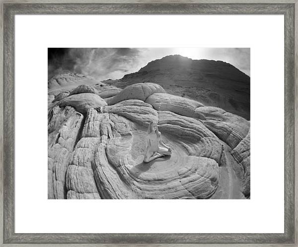 7817 High Desert Nude Meditation  Framed Print