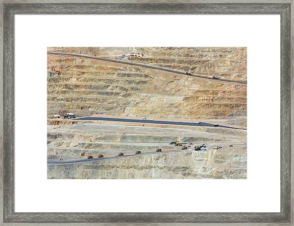 Bingham Canyon Copper Mine Framed Print