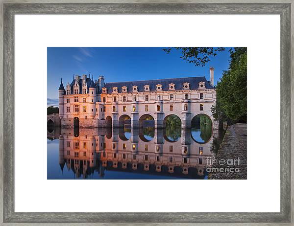 Framed Print featuring the photograph Chateau Chenonceau by Brian Jannsen