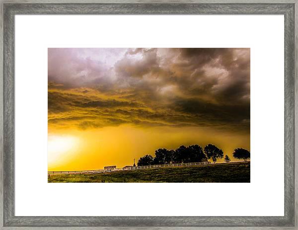 Late Afternoon Nebraska Thunderstorms Framed Print