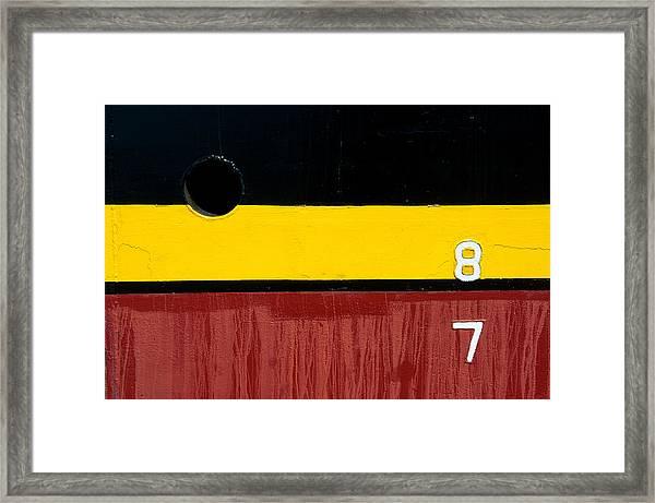 8 Over 7 Framed Print