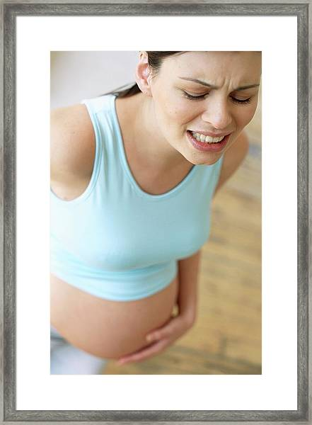 Pregnant Woman Framed Print
