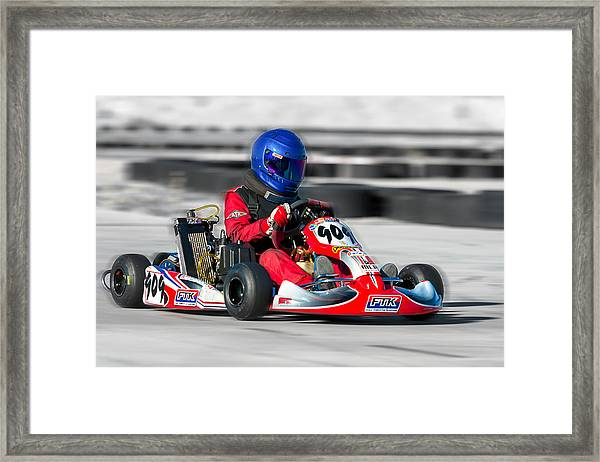 Racing Go Kart Framed Print