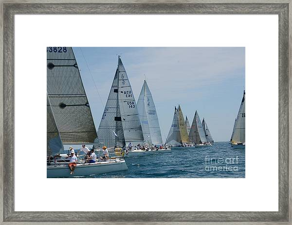 Sailboat Race Framed Print