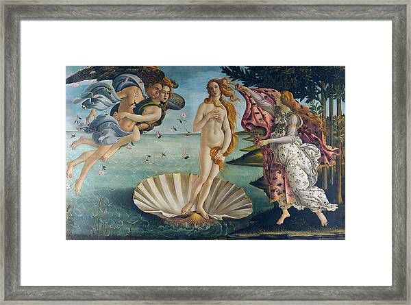 Framed Print featuring the painting The Birth Of Venus by Sandro Botticelli
