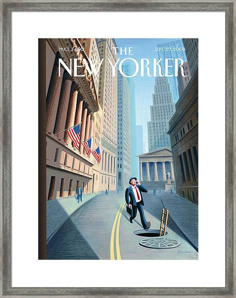 New Yorker September 29th, 2008 Framed Print by Eric Drooker