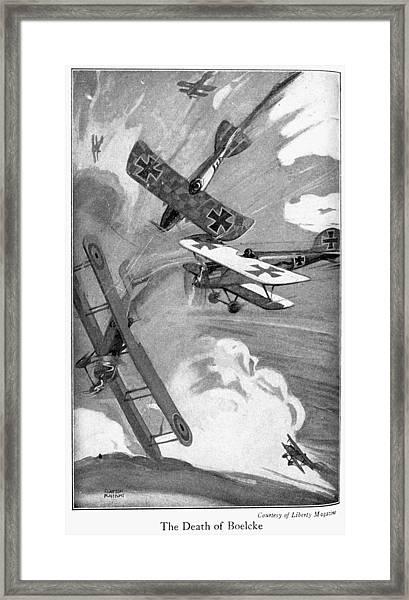 World War I Aerial Combat Framed Print