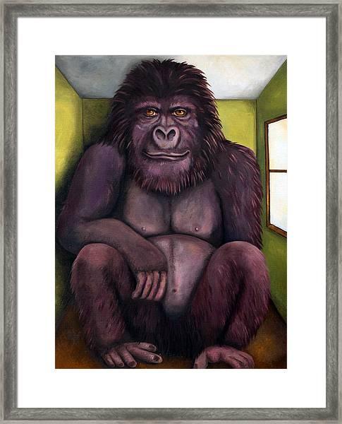 800 Pound Gorilla In The Room Edit 1 Framed Print