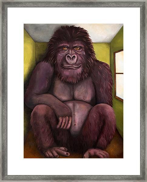 800 Pound Gorilla In The Room Edit 2 Framed Print