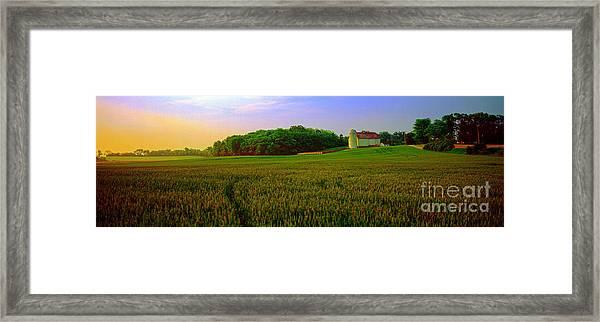 Conley Road, Spring, Field, Barn   Framed Print
