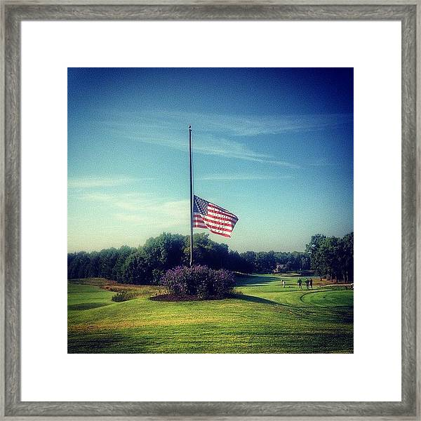 9-11 Never Forget Framed Print