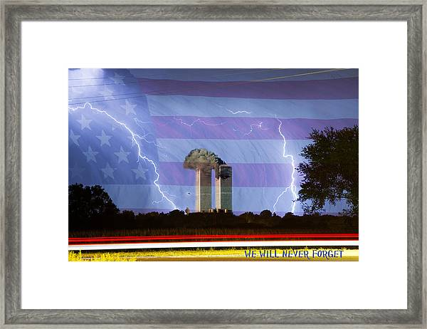 9-11 We Will Never Forget 2011 Poster Framed Print