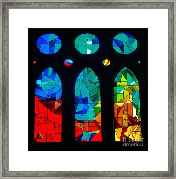 Barcelona Spain - La Sagrada Familia Framed Print