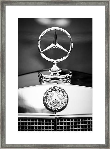 Mercedes-benz Hood Ornament Framed Print