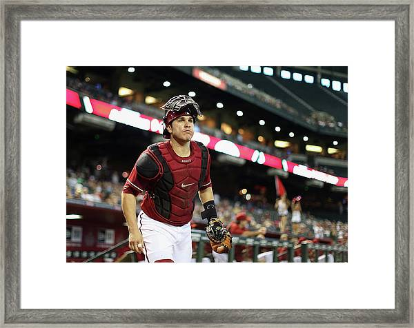 Washington Nationals V Arizona Framed Print