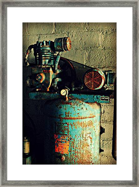 Working At The Car Wash Framed Print