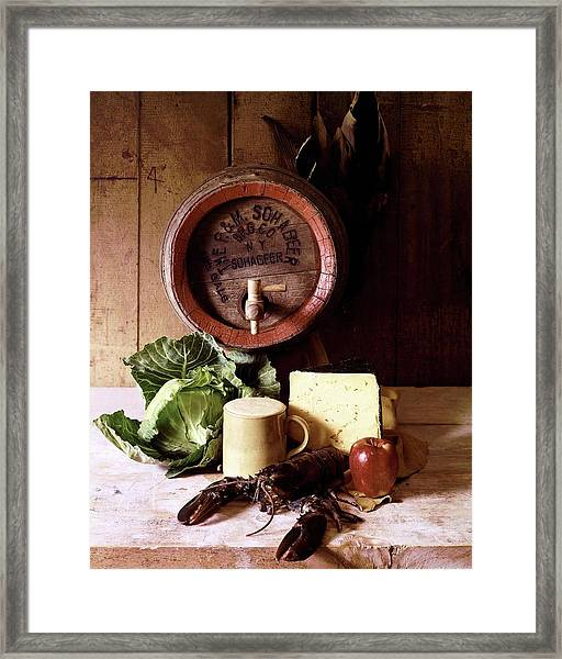 A Barrel Of Beer Framed Print