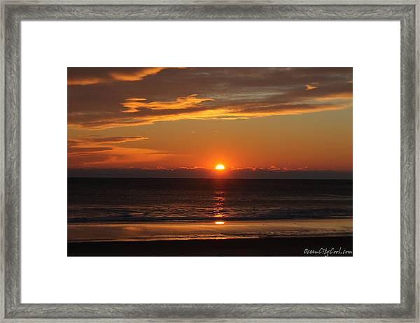 A Beach Life Sunrise Framed Print