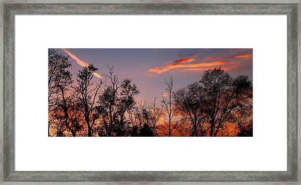 A Beautiful Ending Framed Print