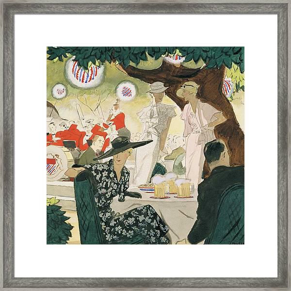 A Beer-garden Framed Print