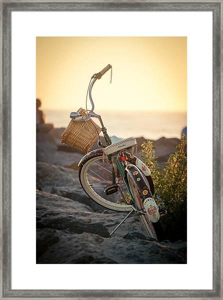 A Bike And Chi Framed Print