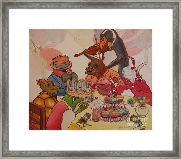 A Birthday Surprise Framed Print