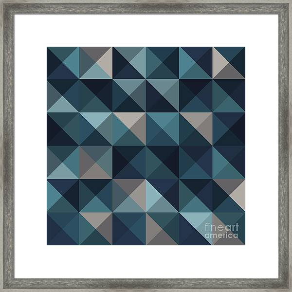 A Blue Abstract Vector Pattern Framed Print