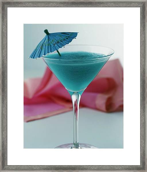 A Blue Hawaiian Cocktail Framed Print