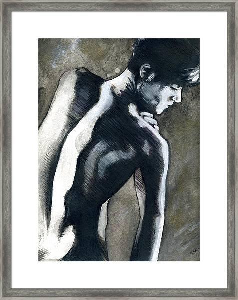 A Boy Named Shadow Framed Print