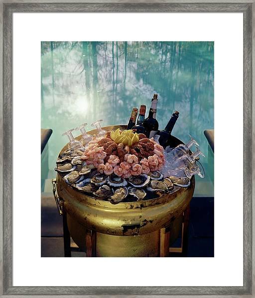 A Bucket Of Shrimp Framed Print