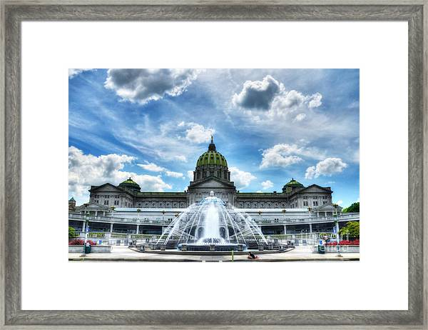 Framed Print featuring the photograph A Capitol Day 2 by Mel Steinhauer