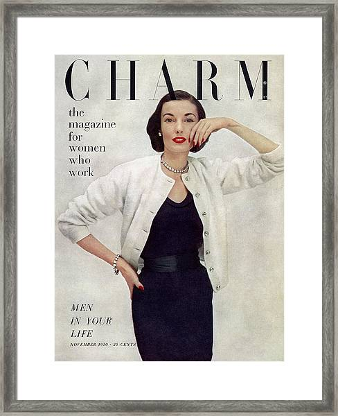 A Charm Cover Of A Model Wearing Ciro Sportswear Framed Print