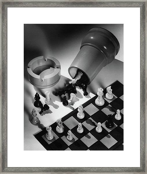 A Chess Set Framed Print
