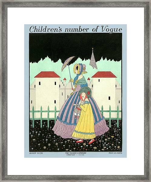 A Children's Number Of Vogue Cover Framed Print