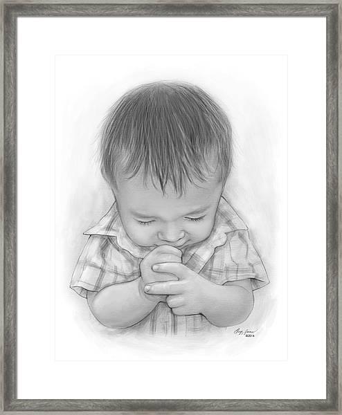 A Child's Payer Framed Print