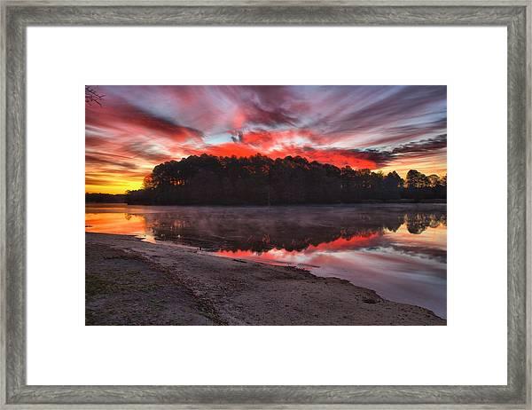 A Christmas Eve Sunrise Framed Print