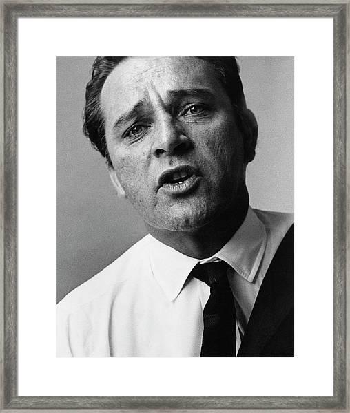 A Close-up Of Richard Burton Framed Print