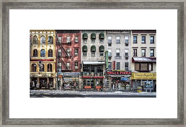 A Cold Day In Ny Framed Print by Peter Pfeiffer