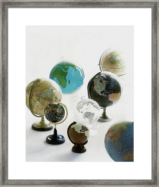 A Collection Of Globes Framed Print