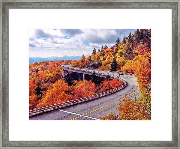 A Colorful Ride Along The Blue Ridge Parkway Framed Print