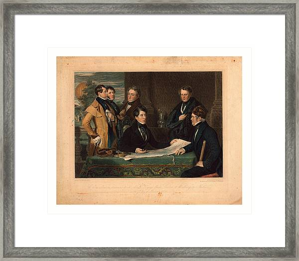 A Consultation Previous To An Aerial Voyage From London Framed Print
