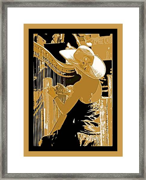 A Coos Bay Lady Musician Framed Print