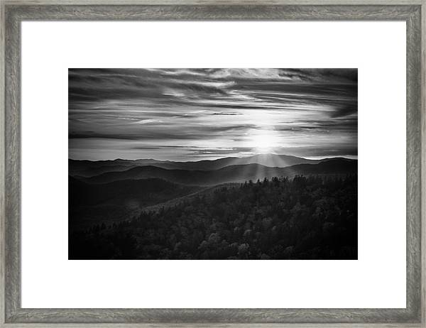 A Cowee Mountains Evening Framed Print