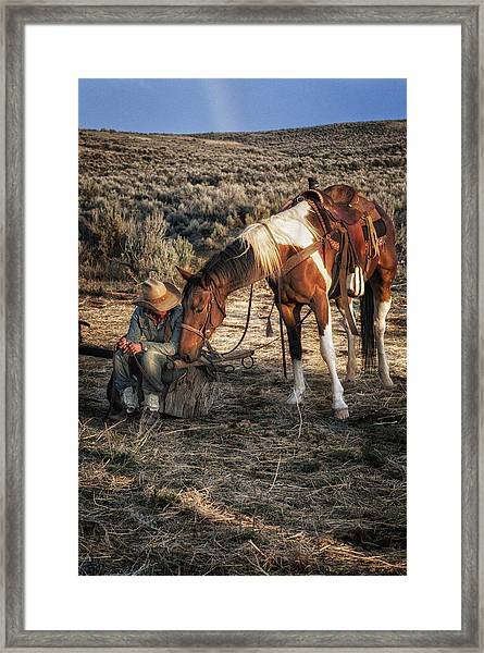 A Cowgirls Best Friend Framed Print