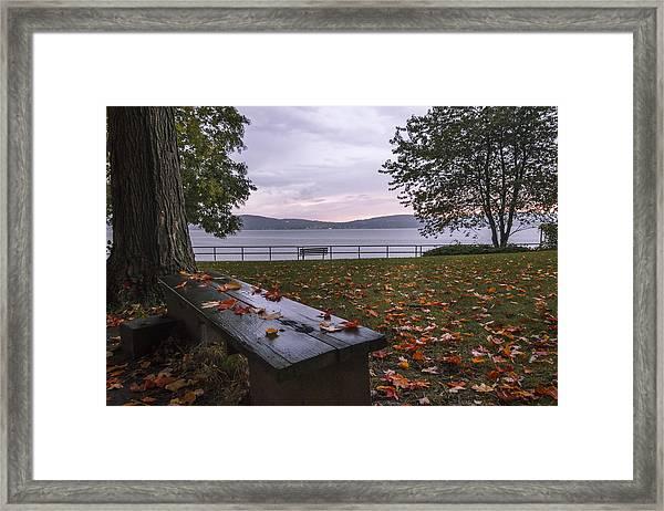 A Cozy Plave Framed Print