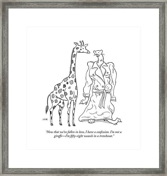 I Have A Confession Framed Print