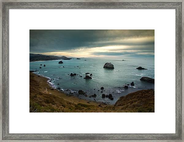 A Dark Day At Sea Framed Print