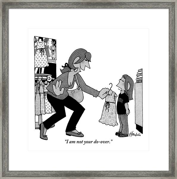 A Daughter Is Seen Speaking With Her Mother Who Framed Print