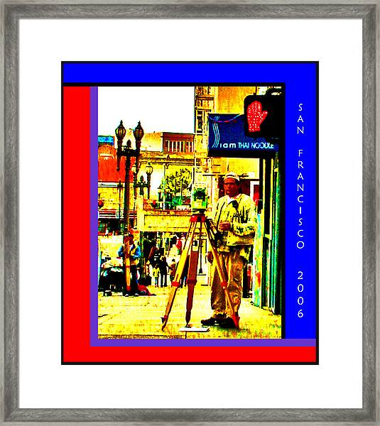 A Day Job In San Francisco Framed Print