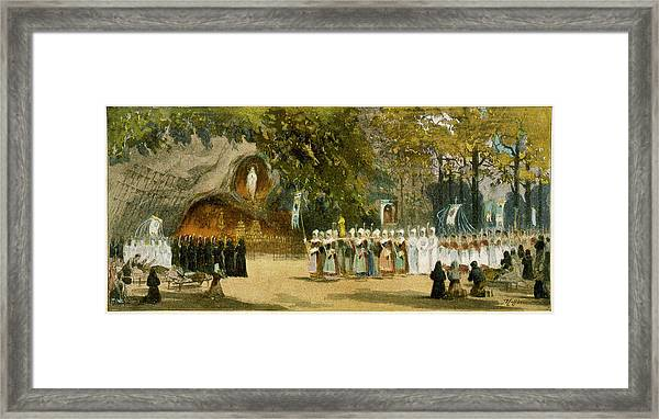 A Day-time Procession  Approaches Framed Print